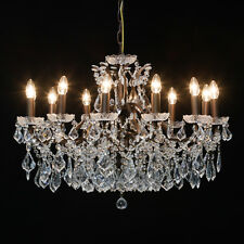 Commercial/Shop Quality Large Bronze 12 Branch Shallow Ceiling Chandelier. New