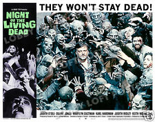 NIGHT OF THE LIVING DEAD LOBBY SCENE CARD # 9 POSTER 1968 GEORGE ROMERO ZOMBIES