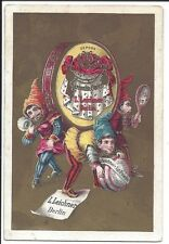Beautifully Colored Trade Card Leichner Theatrical Perfumery, Powder, Centennial