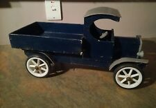 Vintage Wooden Toy Antique Collectors Rare Truck Blue