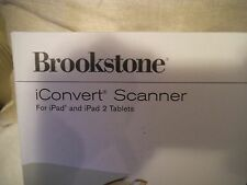 NEW BROOKSTONE ICONVERT SCANNER MADE FOR IPAD PORTABLE WHITE