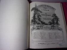 Musique / LIVRE DE PARTITIONS POUR LE PIANO & CHANSONS  vers 1860