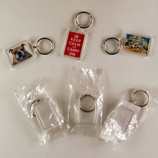 10 BLANK photo  DIY Keyrings-Make your own!!!-35mmx24mm