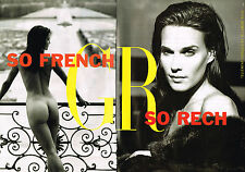 PUBLICITE  1997   GEORGE RECH    haute couture ( 2 pages)