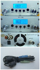 15W FM stereo PLL broadcast transmitter 86-108mhz RCA  Host+audio line