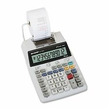 NEW Sharp - EL1750V LCD Two-Color Printing Calculator with Printer, 12-Digit LCD