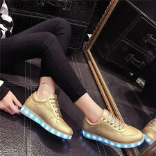 New Men Women LED Night Light Couples Light Up Trainer Lace-up Shoes Sneakers