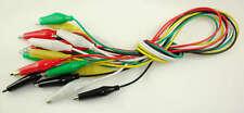 Pack 10 Cables con pinzas cocodrilo electrónica varios colores