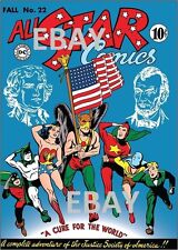 ALL STAR COMICS 22 COVER PRINT Justice Society of America