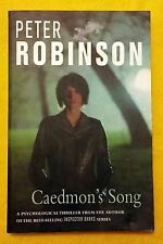 Caedmon's Song by Peter Robinson FREE AUS POST used paperback