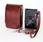 Coffee-colored PU Leather Digital Camera Case Bag Cover For Sony HX50 HX60 RX100