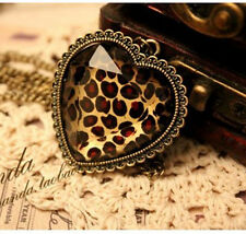 Free Fashion jewelry Heart Bronze Retro long Pendant sweater Necklace N63