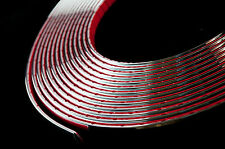 1 meter Chrome Car Styling Moulding Strip Trim Adhesive 6mm Width x 2mm Depth