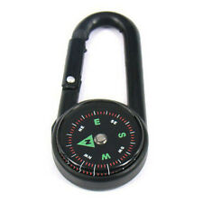 Climbing Hiking Travel Survival Compass Carabiner Key Chain Hook Camp Key Ring