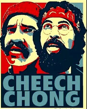 """3.25"""" Funny Marijuana Cheech and Chong for President STICKER. For bong or pipe."""