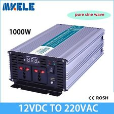 1000W DC12V to AC220V Off Grid Pure Sine Wave Power Inverter LED Display