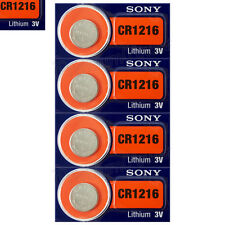 4 x SONY Lithium CR1216 batteries 3V Coin Cell DL1216 KRC1216 Watch EXP:2025