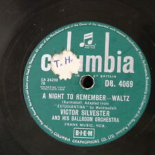 78rpm VICTOR SYLVESTER a night to remember / april love