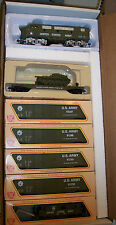 HO TRAINS  MILITARY  US ARMY F-3 & 5 CARS  TRAIN SET  US ARMY TRAIN SET BBF-200