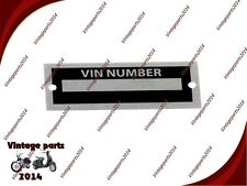 Body Tag ID Plate Number Replica Auburn Speedster Kit Car VIN Replicar Cobra