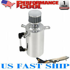 POLISHED 0.5L OIL BREATHER TANK CATCH CAN RESERVOIR W/STAINLESS FILTER