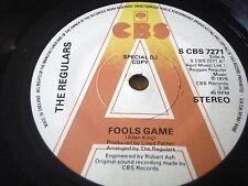 "THE REGULARS - FOOLS GAME    7"" VINYL SPECIAL DJ PROMO COPY"