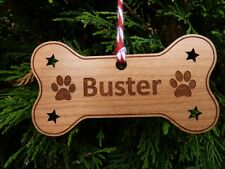 Personalised Dog Christmas Bauble Decoration : Dog Memorial Tree Ornament