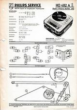 Service Manual-Anleitung für Philips HD 482 A,Radio Phono Koffer 482
