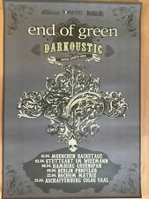 END OF GREEN 2016 TOUR   -  orig.Concert Poster -- Konzert Plakat  A1 NEU