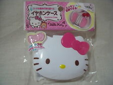 Hello Kitty Face Type Earphone Case with Ribbon type Earphone holder Sanrio F/S