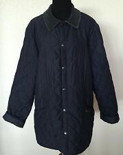BARBOUR Men's Navy Diamond Quilted Eskdale Barn Jacket Sz S