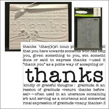 THANKS DEFINE embossing folder - Darice embossing folders 8374 words,phrases