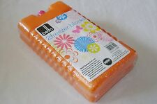 NEW 2 PACK FREEZER ICE PACKS BLOCKS COOL LUNCH BOXES PICNIC ORANGE RSW