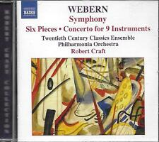 CD album: Webern: Symphony. Robert Craft . naxos. L