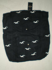 NWT HOLLISTER CLASSIC TOTE BAG BACK PACK NAVY BLUE WITH WHITE BIRDS