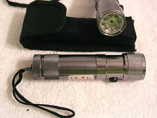8 bulb flashlight with a red laser light pointer AAA bateries with case