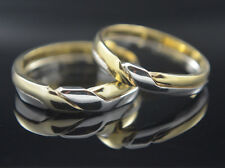 Wedding Band Rings  knot Braided Interlace Ring 14k Gold / SS.925