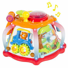 Deluxe Baby Musical Activity Cube Play Center w/ Lights,Many Functions & Skills