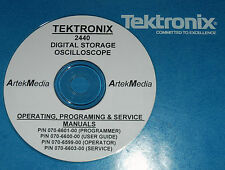 TEK 2440 MANUAL SET (SERVICE / OPS / PROGRAMER) 4 VOL's