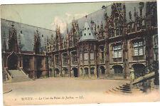 76 - cpa - ROUEN - Cour du Palais de Justice