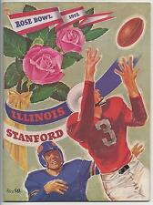 1952 Rose Bowl football program Illinois Fighting Illini v Stanford Indians mark