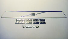 Metal Front Grilling Plate and logos For 1/14 Tamiya Rc Truck Volvo FH12 CC HAND