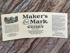 Rare Makers Mark Whisky 1.0L Collectors Factory Bottle Label Loretto Ky NEW
