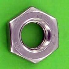"""Jam Thin Nut 1/4"""" Zinc Plated GR2 Pack of 20"""