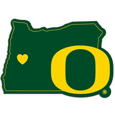 oregon ducks state shape logo with heart vinyl decal