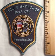 MANCHESTER CONNECTICUT POLICE EXPLORER PATCH (HIGHWAY PATROL, SHERIFF, EMS)