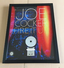 Joe Cocker Platin Award ( goldene Schallplatte ) Fire It Up - 200.000 Alben