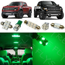 7x Green LED lights interior package kit for 2010-2014 Ford Raptor or F-150 FS2G