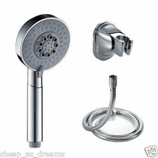 UNIVERSAL SHOWER HEAD 5 MODE FUNCTION CHROME ANTI-LIMESCALE LARGE BATH 1.5M HOSE