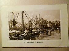 1909 Postcard- THE YACHT BASIN, LOWESTOFT, Suffolk + Stamp